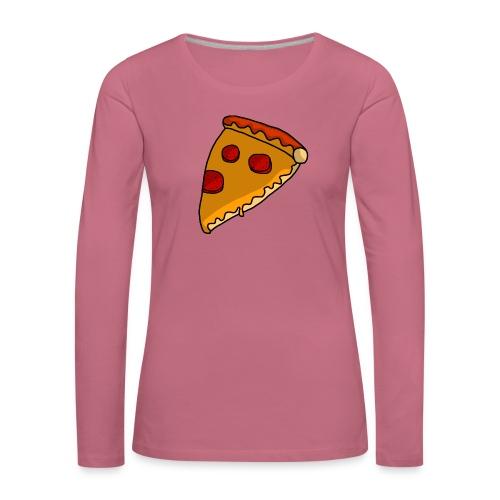 pizza - Dame premium T-shirt med lange ærmer