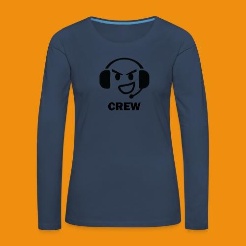 T-shirt-front - Dame premium T-shirt med lange ærmer