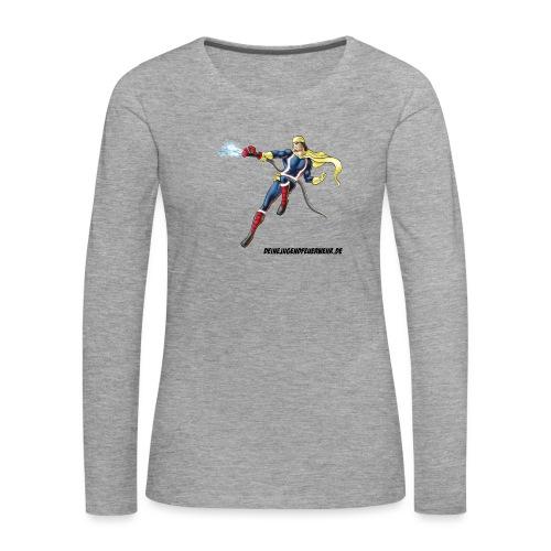 Captain Firefighter - Frauen Premium Langarmshirt