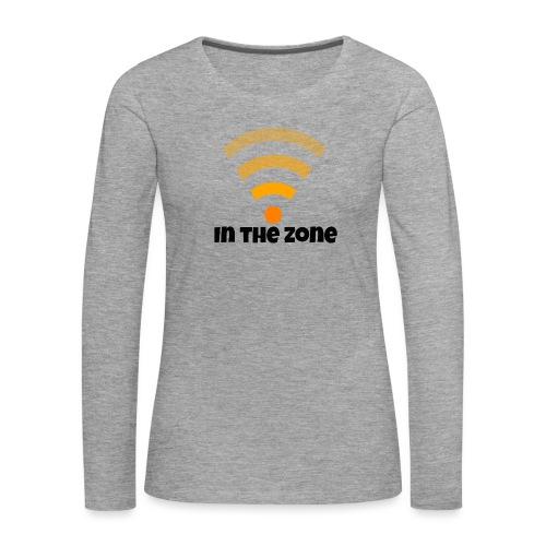 In the zone women - Vrouwen Premium shirt met lange mouwen