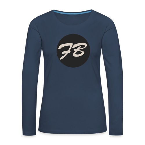 TSHIRT-INSTAGRAM-LOGO-KAAL - Vrouwen Premium shirt met lange mouwen