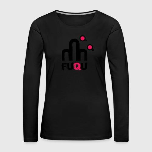 T-shirt FUQU logo colore nero - Maglietta Premium a manica lunga da donna