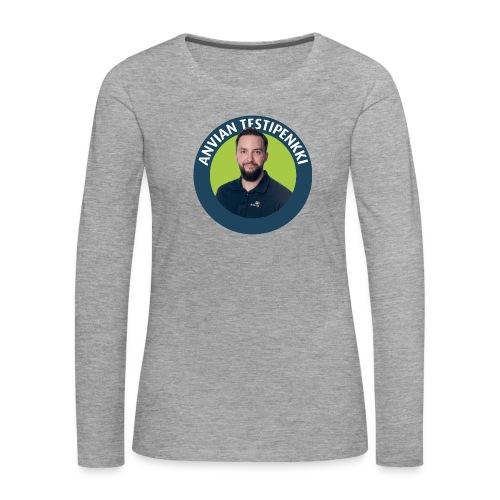 Lasten ruokalappu - Naisten premium pitkähihainen t-paita