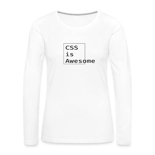 cssawesome - black - Vrouwen Premium shirt met lange mouwen