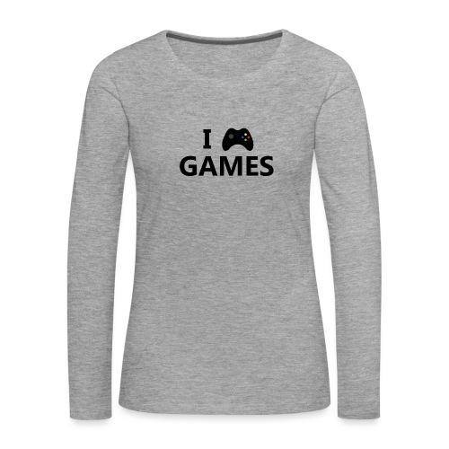 I Love Games 3 - Camiseta de manga larga premium mujer