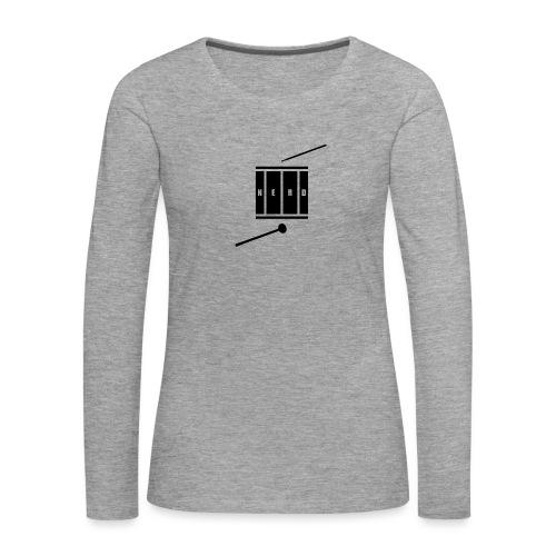 Nerd_Logo Black - Dame premium T-shirt med lange ærmer