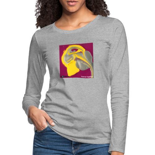 TIAN GREEN Welt Mosaik - CH071 Forever together - Frauen Premium Langarmshirt