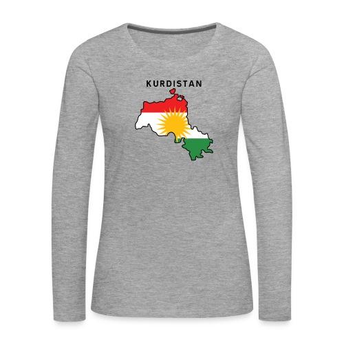 Kurdistan - Långärmad premium-T-shirt dam