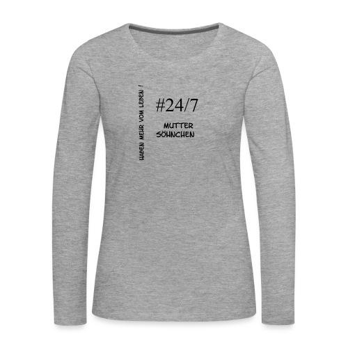 Muttersöhnchen - Frauen Premium Langarmshirt