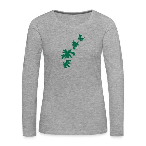 Green Leaves - Frauen Premium Langarmshirt