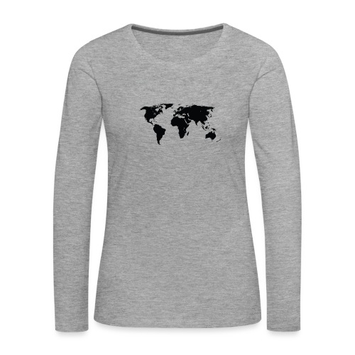 World - Dame premium T-shirt med lange ærmer