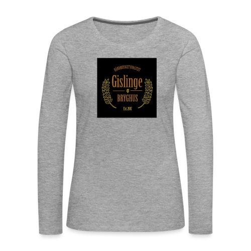 Sort logo 2017 - Dame premium T-shirt med lange ærmer