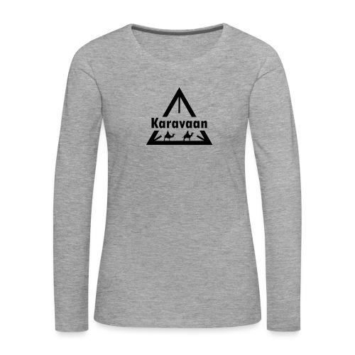Karavaan Black (High Res) - Vrouwen Premium shirt met lange mouwen