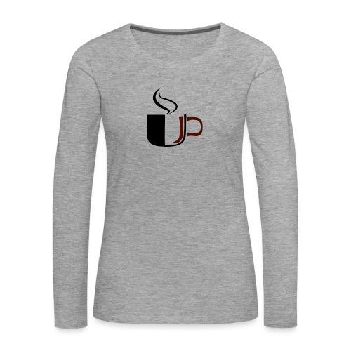 JU Kahvikuppi logo - Naisten premium pitkähihainen t-paita