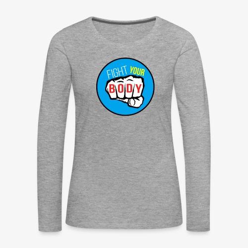 logo fyb bleu ciel - T-shirt manches longues Premium Femme