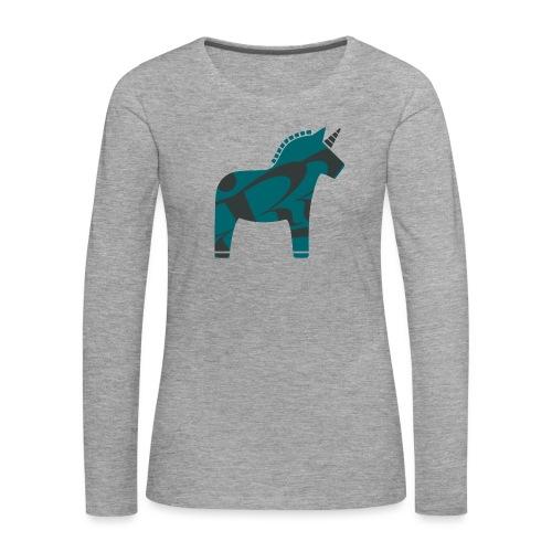 Swedish Unicorn - Frauen Premium Langarmshirt