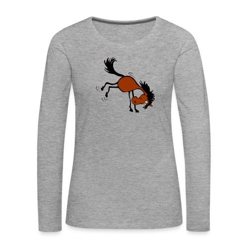 buckelndes Pferd - Frauen Premium Langarmshirt