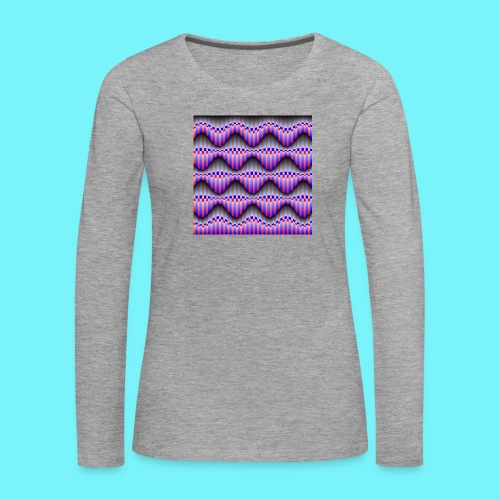 Sine waves in red and blue - Women's Premium Longsleeve Shirt