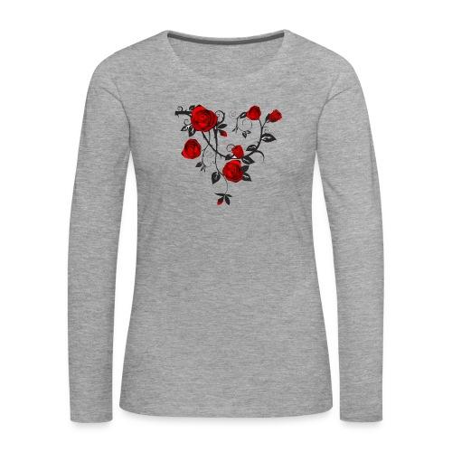 Rosenranken - Frauen Premium Langarmshirt