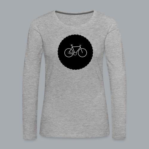 Bike Circle Vector - Frauen Premium Langarmshirt