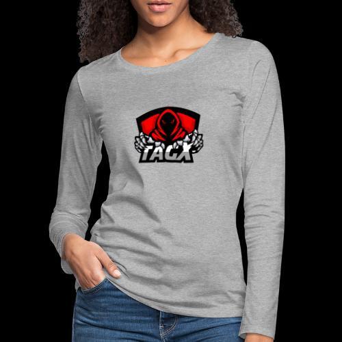 TagX Logo - Naisten premium pitkähihainen t-paita