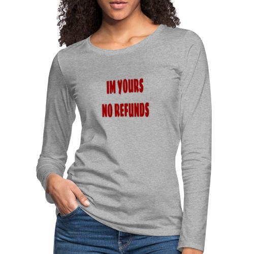 Im yours red - Långärmad premium-T-shirt dam
