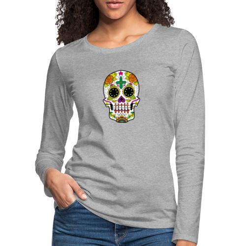 skull4 - Maglietta Premium a manica lunga da donna