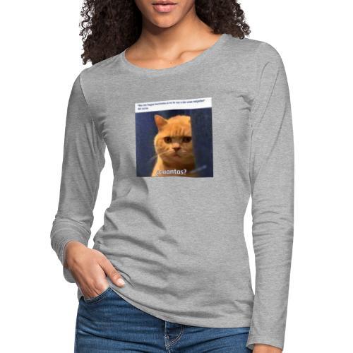 Cat nalgadas - Camiseta de manga larga premium mujer