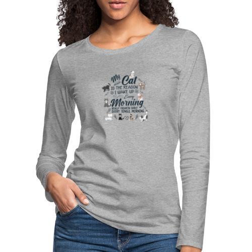 MY CAT - T-shirt manches longues Premium Femme