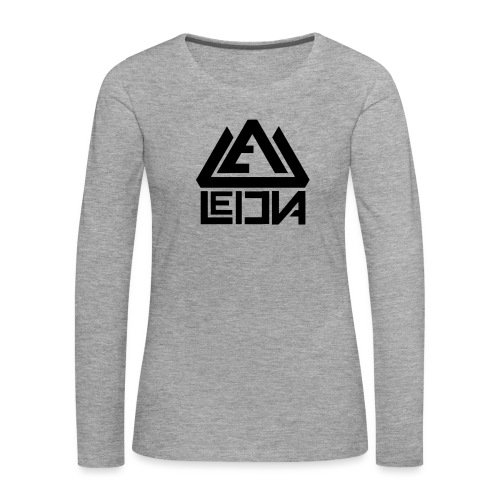 LEDUNA BLACK LOGO - Långärmad premium-T-shirt dam