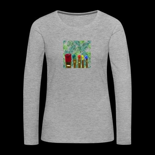 couleurs chauds des tropiques - T-shirt manches longues Premium Femme