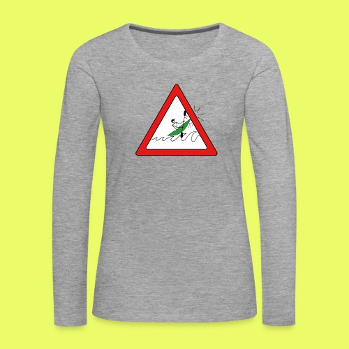 Kajak Unfall im Dreieck - Frauen Premium Langarmshirt