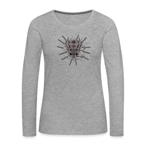 Lotus Of The Samurai - Vrouwen Premium shirt met lange mouwen