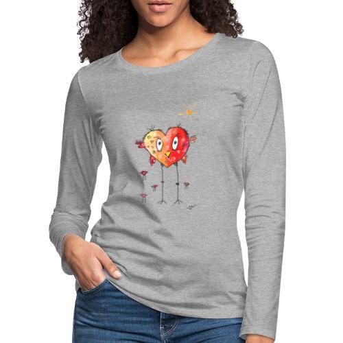 Happy heart - Frauen Premium Langarmshirt