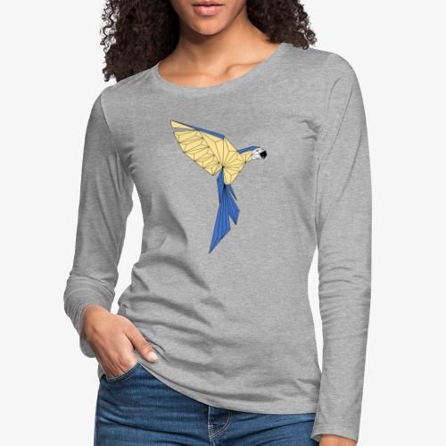 Papagei geometrisch - Frauen Premium Langarmshirt