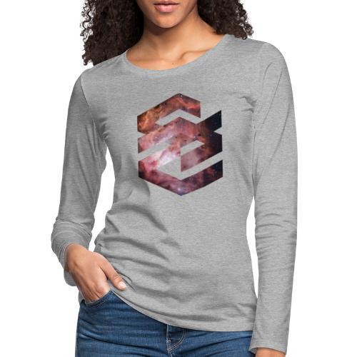 Geometische Galaxie Form - Frauen Premium Langarmshirt