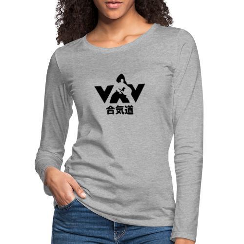 aikido zwart - Vrouwen Premium shirt met lange mouwen