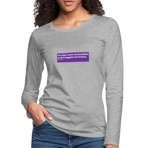 barzelletta - Maglietta Premium a manica lunga da donna