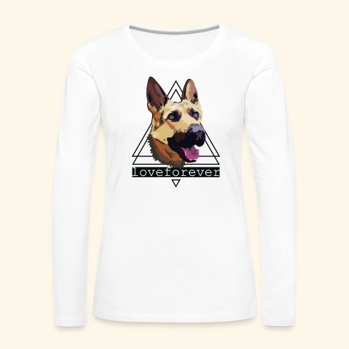 SHEPHERD LOVE FOREVER - Camiseta de manga larga premium mujer