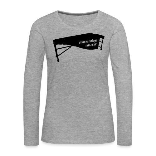 Marimba Music 2 Kontur - Frauen Premium Langarmshirt