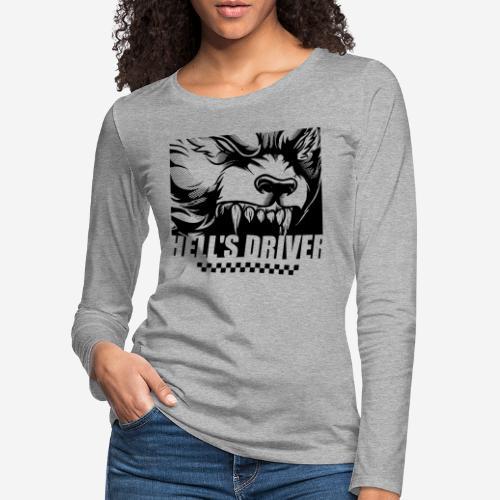 taxi drive driver wolf - Frauen Premium Langarmshirt