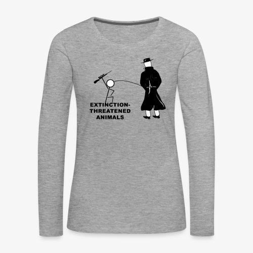 Pissing Man against hunting for endangered animals - Frauen Premium Langarmshirt