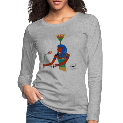 Nefertem I altägyptische Gottheit - Frauen Premium Langarmshirt