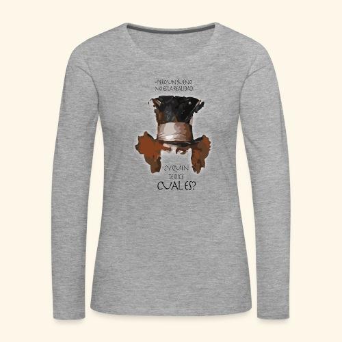 CUAL ES - Camiseta de manga larga premium mujer