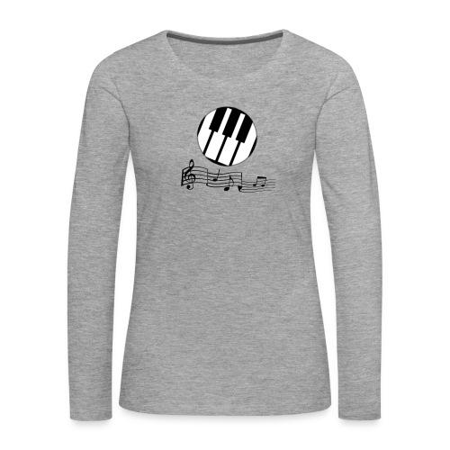 Le piano roulant. - T-shirt manches longues Premium Femme