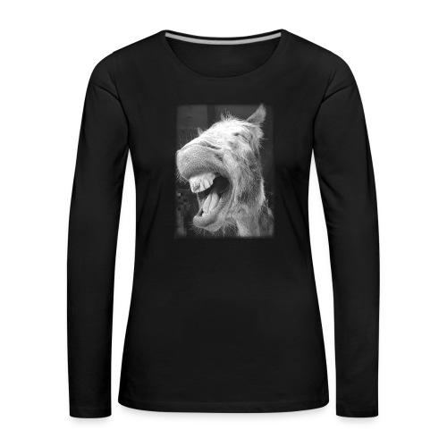 lachender Esel - Frauen Premium Langarmshirt