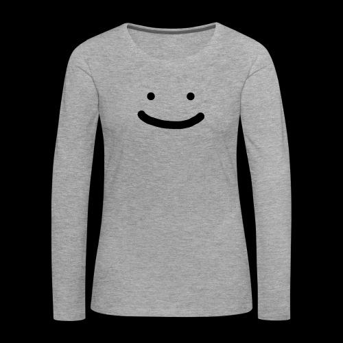 Smile - Koszulka damska Premium z długim rękawem