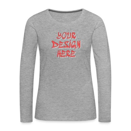 textfx - Långärmad premium-T-shirt dam