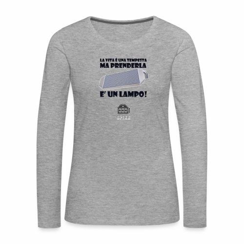 INTERCOOLER (nero) - Maglietta Premium a manica lunga da donna