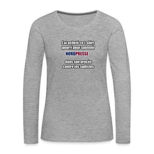nordpresse - T-shirt manches longues Premium Femme